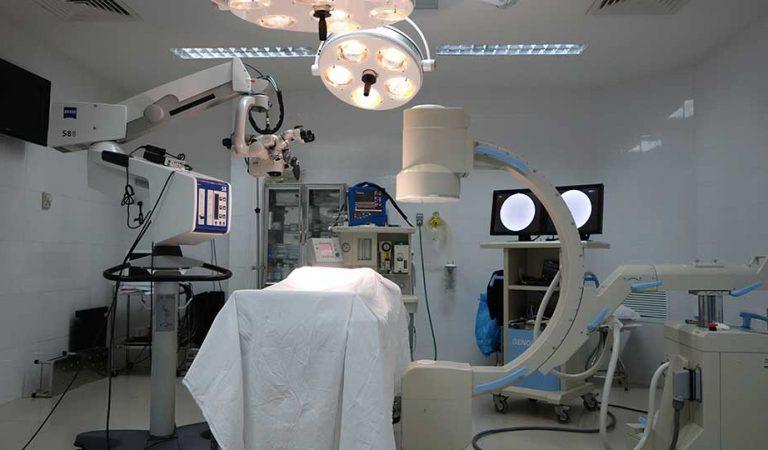 Hệ thống trang thiết bị được đặt tại phòng mổ bệnh viện hợp tác với EXSON